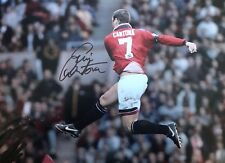 FANTASTIC ERIC CANTONA MANCHESTER UNITED SIGNED 16x12 £49.99 Real Value