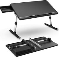 Multifunctional Folding Legs Table Laptop Desk with Storage Drawer Adjustable