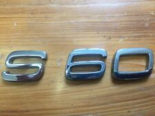 VOLVO S60 Boot lid badge logo S60 Free Postage