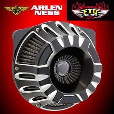 Arlen Ness Inverted Series Air Cleaner Kit Deep Cut Black 08-16 HD FLT 18-927