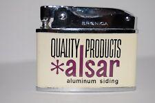 Vintage Flat Advertising Lighter - ALSAR - Aluminum Siding - UNUSED