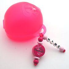 ❤❤❤❤ Schnullerbox für Unterwegs Aufbewahrung Babys pink ❤ kleine Prinzessin ❤❤❤❤