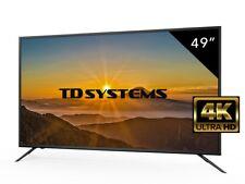 Televisores Led Ultra HD 4K 49 Pulgadas TD Systems K49DLM8U. 3x HDMI, USB, VGA