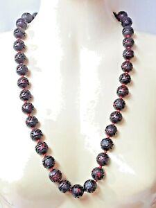 Jewel/Necklace Pearls Of Wood Openwork Decor Flowers
