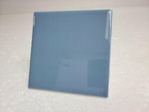 Vintage Blue Ceramic Tile 4 in 4x4 American Olean Dark Wedgewood Color 0032