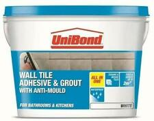 UniBond 12.8kg Wall Tile Adhesive and Grout with Anti Mould White New