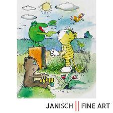 """JANOSCH - """"Tiger lauscht Froschgesang"""", handsigniert, Auflage 99, 2013!"""