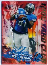 CALVIN JOHNSON - 2014 Chrome MINI Red Refractor 1000 Yard Club - Lions /60