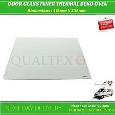 Inner Oven Glass Door Thermal For Beko Belling Lamona Leisure etc 415mm X 335mm