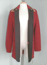 NEW! Geiger Austria Boiled Wool Jacket (Coat)! 8 e 38  Red with Southwest Design