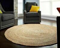 Home Decor Hand Woven Round Braided Reversible Modern look Floor Jute Rug Carpet
