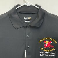 Firefighters Men's Golf Polo Black XL NEW WITH TAGS