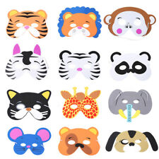12pcs Animal Face Mask for Children Kids Birthday Party Favors Dress Up Costume