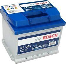BOSCH S4001 PREMIUM Car Battery 4yr Warranty 1.0 - 1.6 litre Ford Fiesta - Corsa