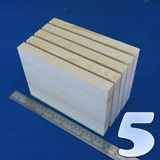 "LOT x 12 CUBES 2.5/""// 65 mm WOODEN BLOCKS BUNDLE SET PINE WOOD NATURAL ECO BRICKS"