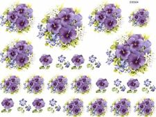 VinTaGe ImaGe AmaZinG LiLaC PanSieS ShaBby WaTerSliDe DeCals TraNsFeRs