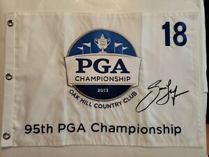 Jason Dufner Signed Autographed 2013 Pga Championship Flag Oak Hill Country Club