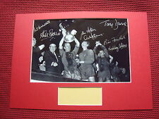 MANCHESTER UNITED 1968 EUROPEAN CUP WIN 7 SIGNED A3 MOUNTED PHOTO DISPLAY- AFTAL