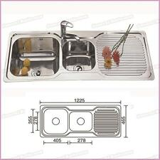 Stainless Steel 1230mm Double Bowl Single Drainer Kitchen Sink