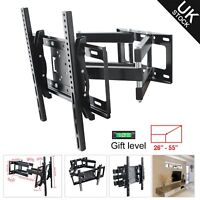 "Plasma Wall Mount TV Bracket Flexible Cantilever Arm 27-55"" LED LCD Monitor"