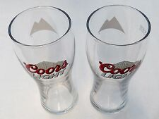TWO IRISH COORS LIGHT BEER LAGER PINT GLASSES IMMACULATE