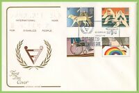 G.B. 1981 Disabled set on Cotswold  First Day Cover, Motor Club London