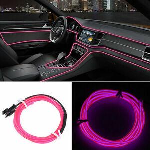 5M 110V Neon LED Light Glow EL Wire Car Interior Lamp Strip Rope Tube Trim Decor