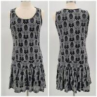 Merrell Gray Black Boho Short Dress Womens Large