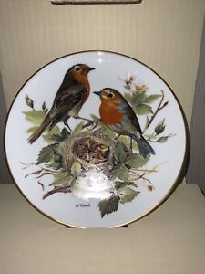 ALT TIRSCHENREUTH WWF COLLECTOR PLATE ~ RED ROBIN BY URSULA BAND ~ BOXED