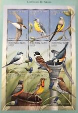 Burkina Faso- 1998 Birds Stamp Sheet of 9 MNH