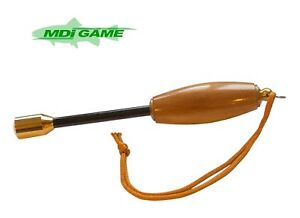 """MDI Game Deluxe Wooden 7.5"""" (19.5cm) Trout Priest with Lanyard"""