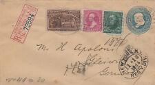 USA, Reko Brief Ganzsache 13.11.1894 to Germany