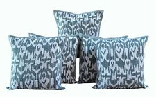 "100% Cotton Handmade Indian Ikat Print 16X16"" Kantha Sofa Cushion Cover Set-5"