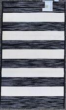 BIBB HOME Black & White Striped Outdoor Indoor Rug 3 x 5