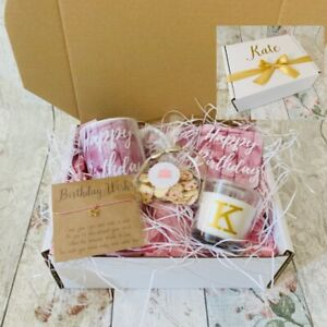 Personalised Ladies Happy Birthday Gift Box Filled Hamper Mug Mum Friend Auntie