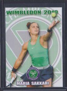 2019 MARIA SAKKARI Rookie RC WIMBLEDON Tennis card 1/100 #9
