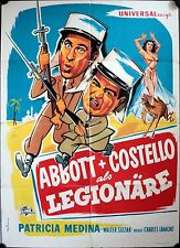 Abbott and Costello in the Foreign Legion German movie poster A1 als Legionäre