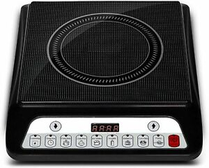 2000W Induction Cooktop With 7 Preset Menu & Auto Switch Power Saving Mode-Grey