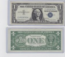 1935 or 1957 $1 Lightly Circulated Silver Certificate - $1 Bill with holder