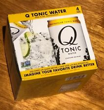 Q Drinks Tonic Water Quinine NO HFCS 7.5oz CAN 4 pack FAST SHIP NON-GMO