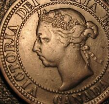 Old Canadian Coins 1891 Copper Canadian Large Cent  Canada