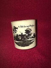 Staffordshire Children's Mug A Gift For My Nephew Creamware Ca. 1810