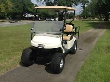 Refurb white 2015 ezgo 48v txt 4 seat Passenger golf cart alloy rims lifted