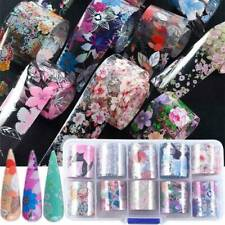 Flower Transfer Nail Foil Manicure Decor Holographic Decals Nail Art Stickers*10