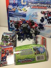 TRANSFORMERS ARMADA Deluxe OPTIMUS PRIME and OVER-RUN Loose Complete