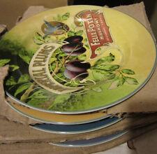 New Vintage Labels 4 Salad Dessert Plates Retired Stoneware Sakura Dinnerware