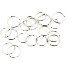 100* Steel Key Rings Chains Split Ring Hoop Metal Loop Accessories 25mmnew
