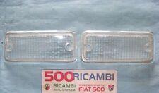FIAT 126 E 126 BIS COPPIA PLASTICA BIANCHE FANALE FANALINO ANTERIORE TUNING TRAS