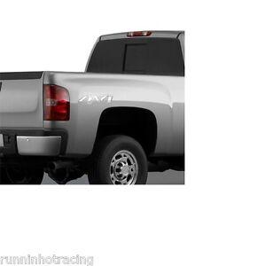 20986187 OEM (2) Chrome CHEVROLET GMC 4X4 Decals SILVERADO SIERRA 07-13 Cadillac
