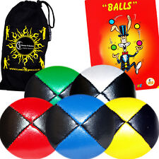 Thud Juggling Balls x5 + FREE Ball Juggling Book